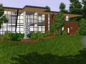 Sims 3 — Modern Mountain Lodge by sambot2172 — Unfurnished 3 bedroom 4-bathroom home for your sims on a beautifully