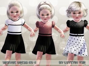 Sims 3 — Vintage Dress No 4 by Lutetia — A cute vintage inspired elegant dress with a sheer and dotted part and short