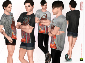 Sims 3 — Ripper Male Top by Simsimay — Feel free to mix and match this loose fit stylish male top with athletic shorts,