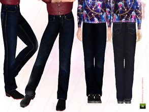 Sims 3 — Vetrina Male Jeans by Simsimay — Enjoy this ultra dark colored jeans! It's high quality and I even put the