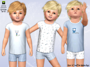 Sims 3 — Bikes 'N' Stuff by minicart — These cute outfits are just the thing to keep your toddler boys cool during those