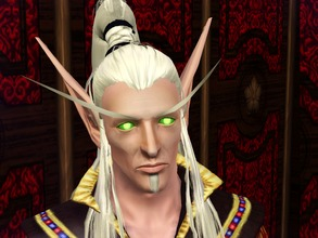 Sims 3 — Lor'themar Hair by LadyofJustice2 — A variation on my Illidan hair, but includes a braid on the base of the pony