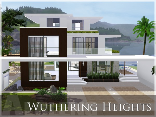 Aloleng 39 s wuthering heights for Big modern house the sims 4