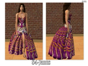 Sims 2 — 84-Janus - Magic purple gown by Well_sims — Beautiful magic purple gown for your sim. -Single purple gown.