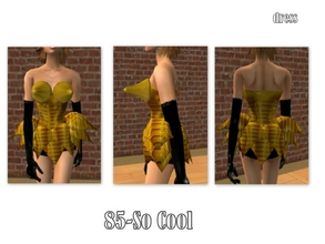 Sims 2 — 85-So cool - outfit by Well_sims — Yellow very modern outfit for your sim. -Single outfit
