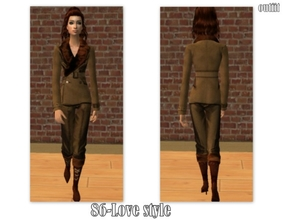 Sims 2 — 86-Love style - Fall outfit by Well_sims — Beautiful fall brown outfit for your sim. -Single outfit