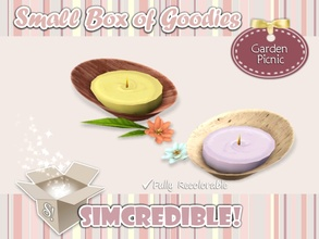 Sims 3 — Garden Picnic *Decor* Citronella Candle by SIMcredible! — It's SIMcredible! Small box of goodies #3 - Your