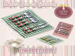 Sims 3 — Garden Picnic - Cutlery by SIMcredible! — It's SIMcredible! Small box of goodies #3 - Your lovely source for
