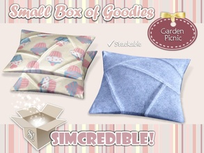 Sims 3 — Garden Picnic - Cushion by SIMcredible! — It's SIMcredible! Small box of goodies #3 - Your lovely source for