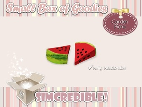 Sims 3 — Garden Picnic- Watermelon Slice *Decor* by SIMcredible! — It's SIMcredible! Small box of goodies #3 - Your