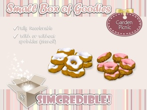 Sims 3 — Garden Picnic - Donuts Pile *Decor* by SIMcredible! — It's SIMcredible! Small box of goodies #3 - Your lovely