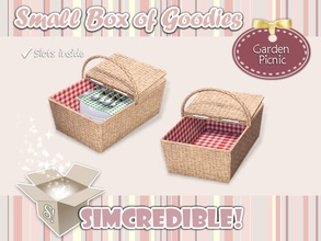 Sims 3 — Garden Picnic Big Basket by SIMcredible! — It's SIMcredible! Small box of goodies #3 - Your lovely source for