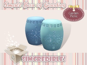 Sims 3 — Garden Picnic Stool *Decor* by SIMcredible! — It's SIMcredible! Small box of goodies #3 - Your lovely source for