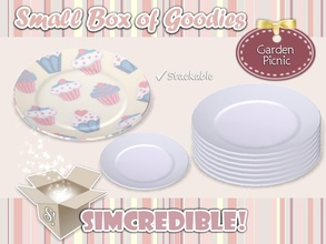 Sims 3 — Garden Picnic - Plate by SIMcredible! — It's SIMcredible! Small box of goodies #3 - Your lovely source for