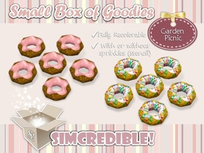 Sims 3 — Garden Picnic - Donuts *Decor* by SIMcredible! — It's SIMcredible! Small box of goodies #3 - Your lovely source