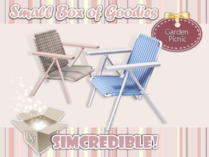 Sims 3 — Garden Picnic Chair by SIMcredible! — It's SIMcredible! Small box of goodies #3 - Your lovely source for living
