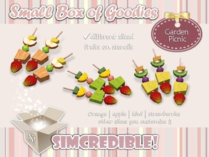 Sims 3 — Garden Picnic Fruit Skewers *Decor* by SIMcredible! — It's SIMcredible! Small box of goodies #3 - Your lovely