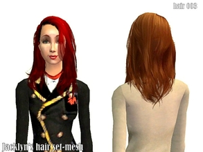 Sims 2 — hair 003-Jacklyn\'s hair set- 5 colors by Well_sims — Beautiful hair in 5 colors for your sim. I hope like it.