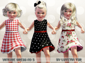 Sims 3 — Vintage Dress No 5 by Lutetia — A cute vintage inspired sleeveless dress with underskirt ~ Works for female