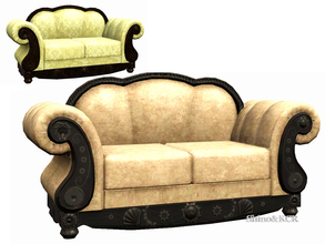 Sims 3 — Livingroom French Quarter - Loveseat by ShinoKCR — Fixed Medium Mesh - will overwrite the former s3package
