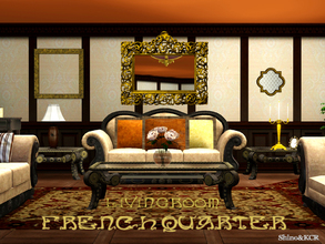 Sims 3 — French Quarter Livingroom by ShinoKCR — Continuing the French Quarter Series with a Livingroom. - Sofa fixed on