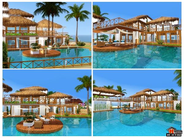 Autaki 39 s iris beach design for Sims 3 pool design