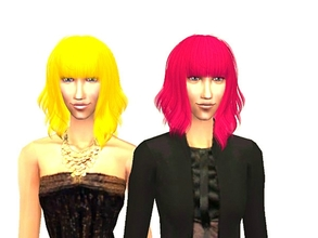 Sims 2 — Hair Re 004 - Rhy\'s hair set-10 colors by Well_sims — Beautiful neon hair in 10 colors for your sim.