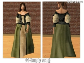 Sims 2 — 91-Empty song - barocco gown by Well_sims — Beautiful green barocco gown for your sim. -Single barocco gown
