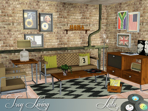 Sims 3 — Troy Living by Lulu265 — Retro Loft is there even such a style, I don't know, but these pieces just seemed to