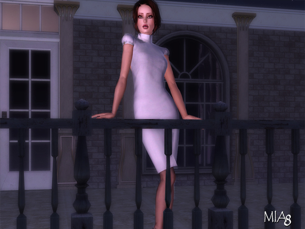 4 poses on the balcony by mia8 for Sims 4 balcony