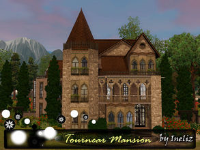 Sims 3 — Tournear Mansion by Ineliz — If your sims ever walked past one of those old and dusty mansions, and wondered