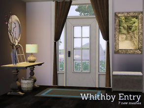 Sims 3 — Whithby Entry by Angela — Whithby Entry a new addon to the whithby Dining. Set contains 7 new meshes all fully
