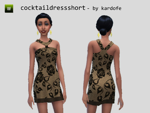 Sims 4 — kar_cocktaildressshort_lace. by kardofe — Lace cocktail dress