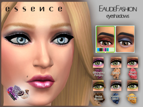Sims 4 — EauDeFashion Eyeshadows by simseviyo — New eyeshadows with realistic texture and high quality feeling.