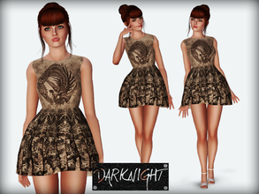 Sims 3 — Jacquard-Knit Mini Dress by DarkNighTt — Jacquard-Knit Mini Dress for your ''Model'' sims. Not recolorable.