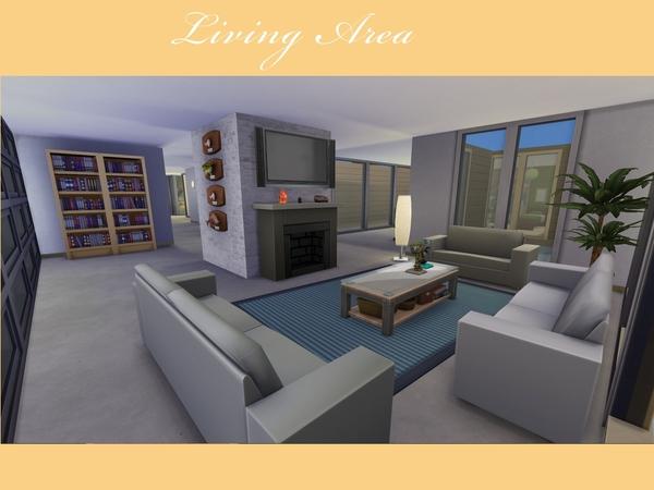 Casa moderna de vidro the sims 4 pirralho do game for Sala de estar the sims 4