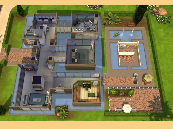 Casa moderna de vidro the sims 4 pirralho do game for Casas modernas sims 4 paso a paso