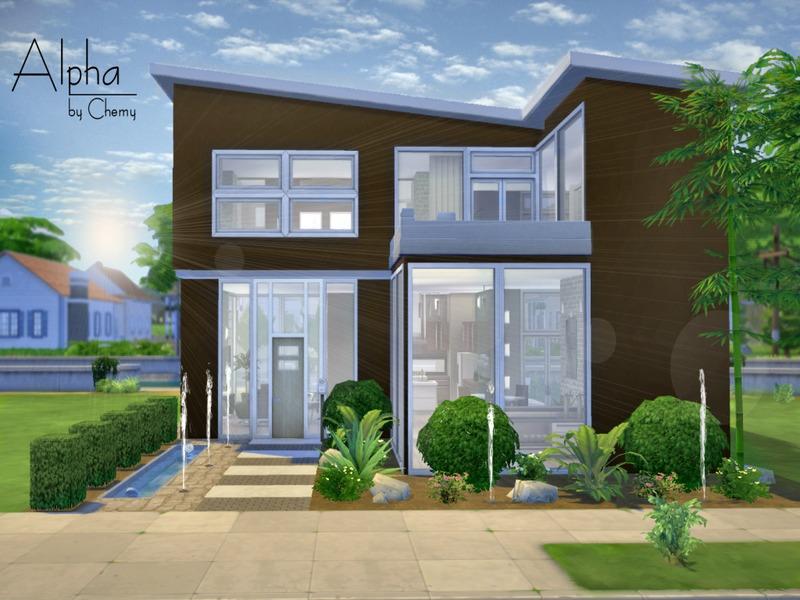 Chemy 39 s alpha modern for Modern house designs sims 4