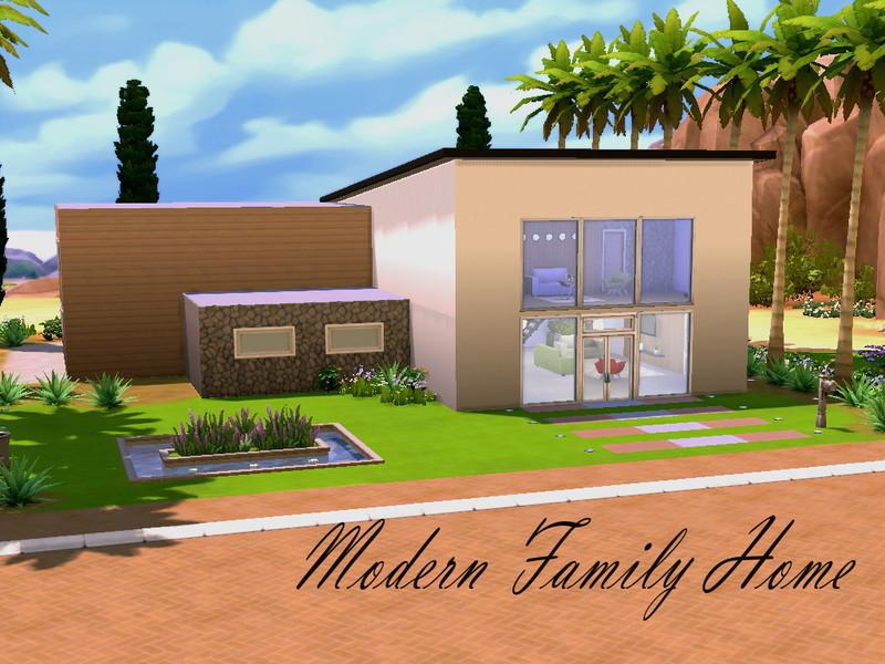 Hazelsims 39 modern family home for Simple modern house sims 4