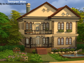 Sims 4 — Temper Way by TheNumbersWoman — A Nice middle Sim income house, styled and fully furnished. No CC