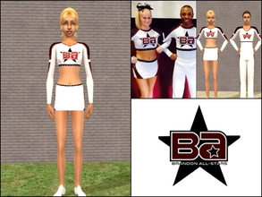 Sims 2 — Brandon Allstars Senior White Female Top by Cheer4Sims2 — Brandon Allstars Senior White Female Top