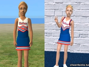 Sims 2 — Panthers Cheerleader Top by Cheer4Sims2 — Panthers Cheerleader Top