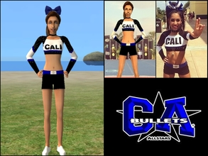 Sims 2 — Lady Bullets Uniform Top by Cheer4Sims2 —