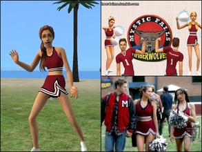 Sims 2 — Mystic Falls Cheerleader Skirt by Cheer4Sims2 —