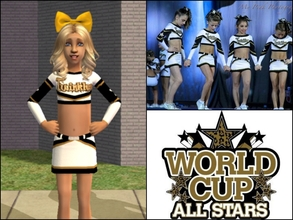 Sims 2 — World Cup Twinkles Skirt by Cheer4Sims2 —