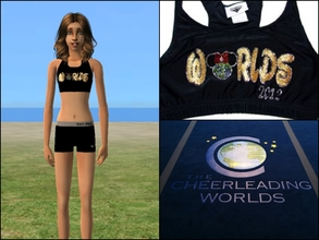 Sims 2 — Cheerleading Worlds Sports Bra + Nike Pro by Cheer4Sims2 — Cheerleading Worlds Sports Bra + Nike Pro