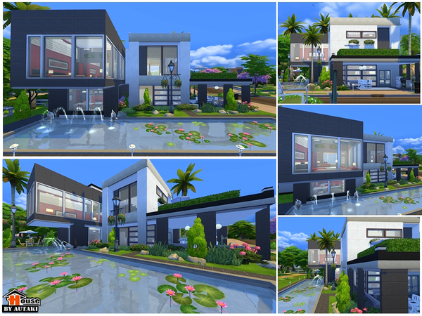 Casa projeto moderno siri the sims 4 pirralho do game for Casas modernas the sims 4
