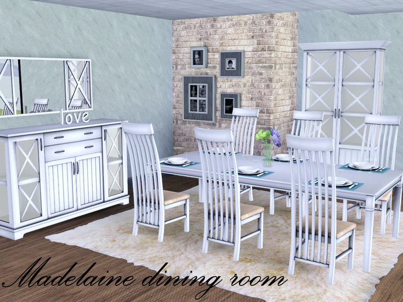 Spacesims 39 madelaine dining room for Sims 3 dining room ideas