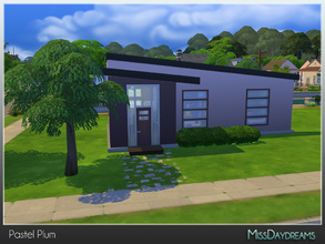 Sims 4 — Pastel Plum [Starter] by MissDaydreams — Pastel Plum is a lovely starter house in modern style with 1 bedroom