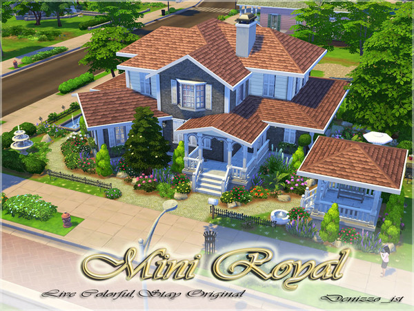 Casa moderna mini royal the sims 4 pirralho do game Casas modernas sims 4 paso a paso